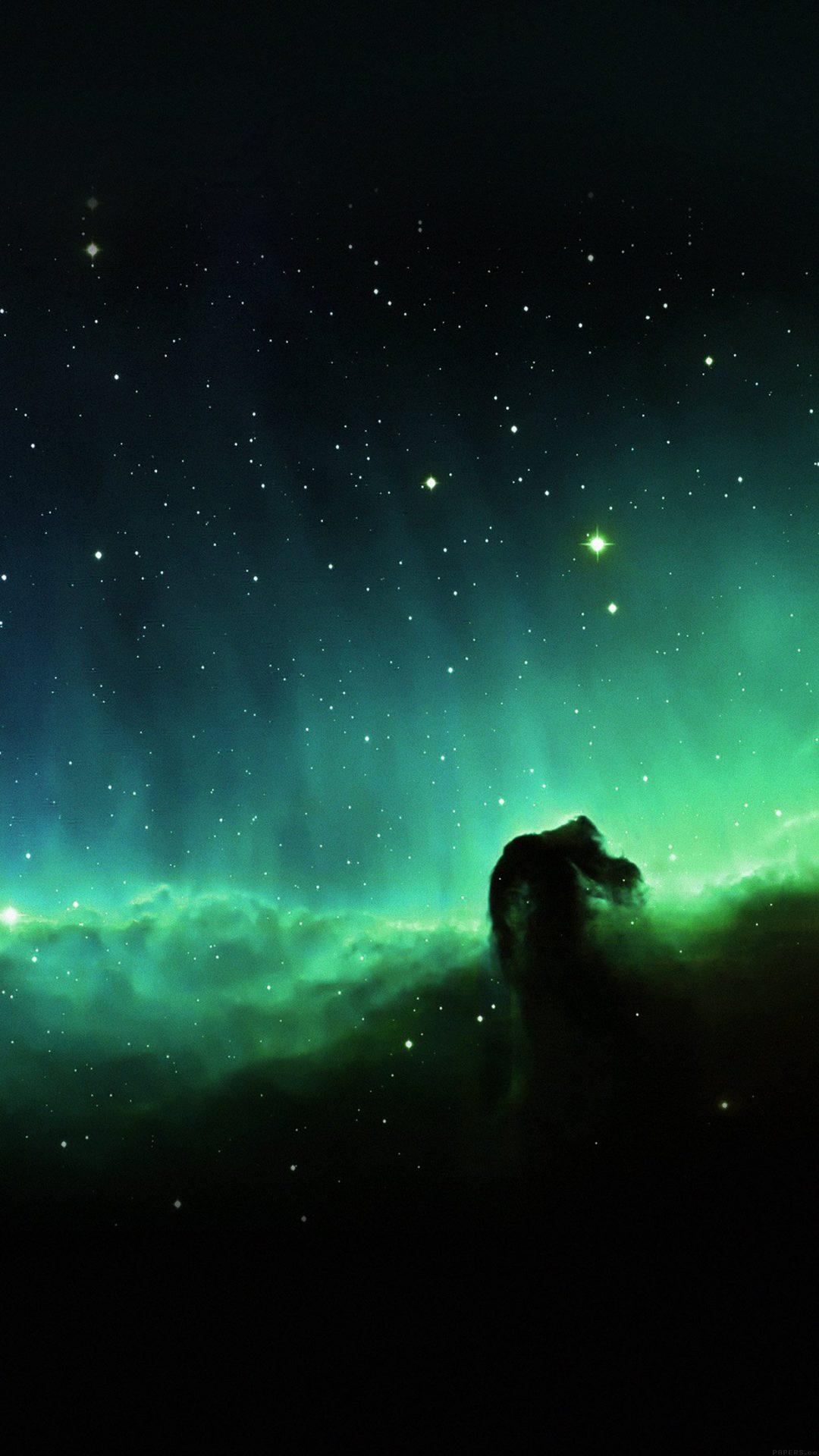 Horse Head Blue Nebula Sky Space Stars