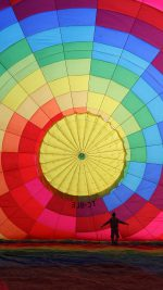 Hot Air Balloon Rainbow Color Nature