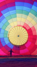 Hot Air Balloon Rainbow Nature
