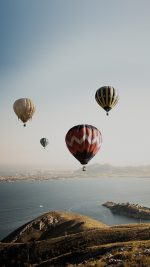 Hot Air Balloon Sky Seaside Nature