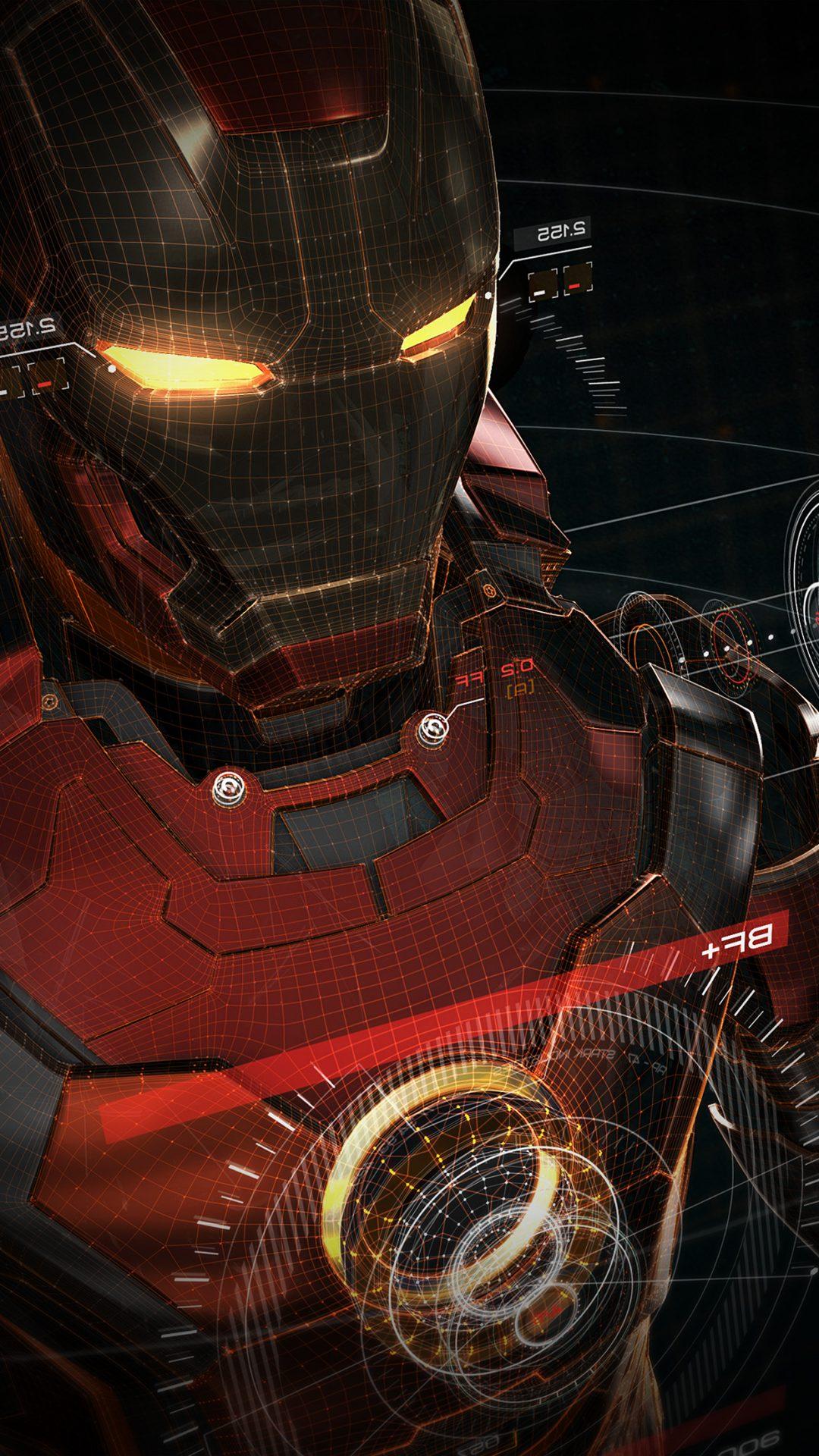 Ironman 3d Red Game Avengers Art Illustration Hero Vignette