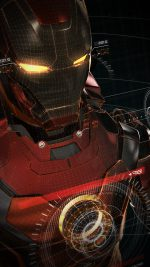 Ironman 3d Red Game Avengers Art Illustration Hero Vignette