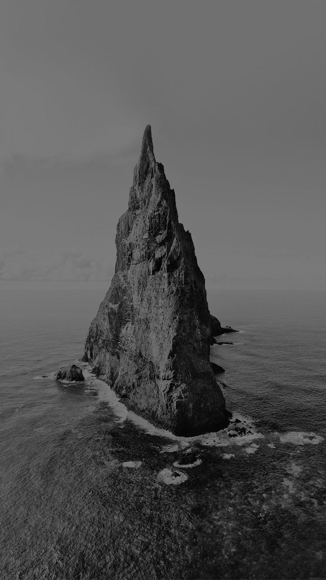 Island Of Lonely Dark Papillon Sea Ocean Nature