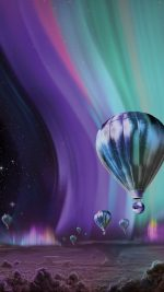 Jupiter Aurora Space Sky Art Illustration