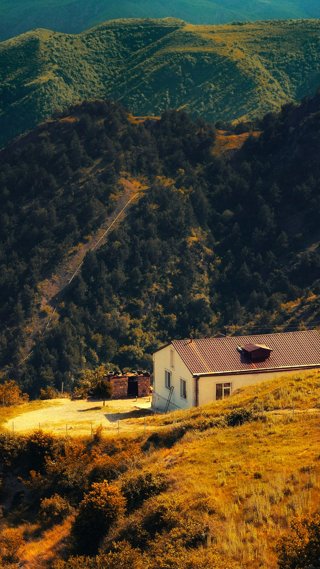Karabakh Armenia Nature With Mountain House Fall