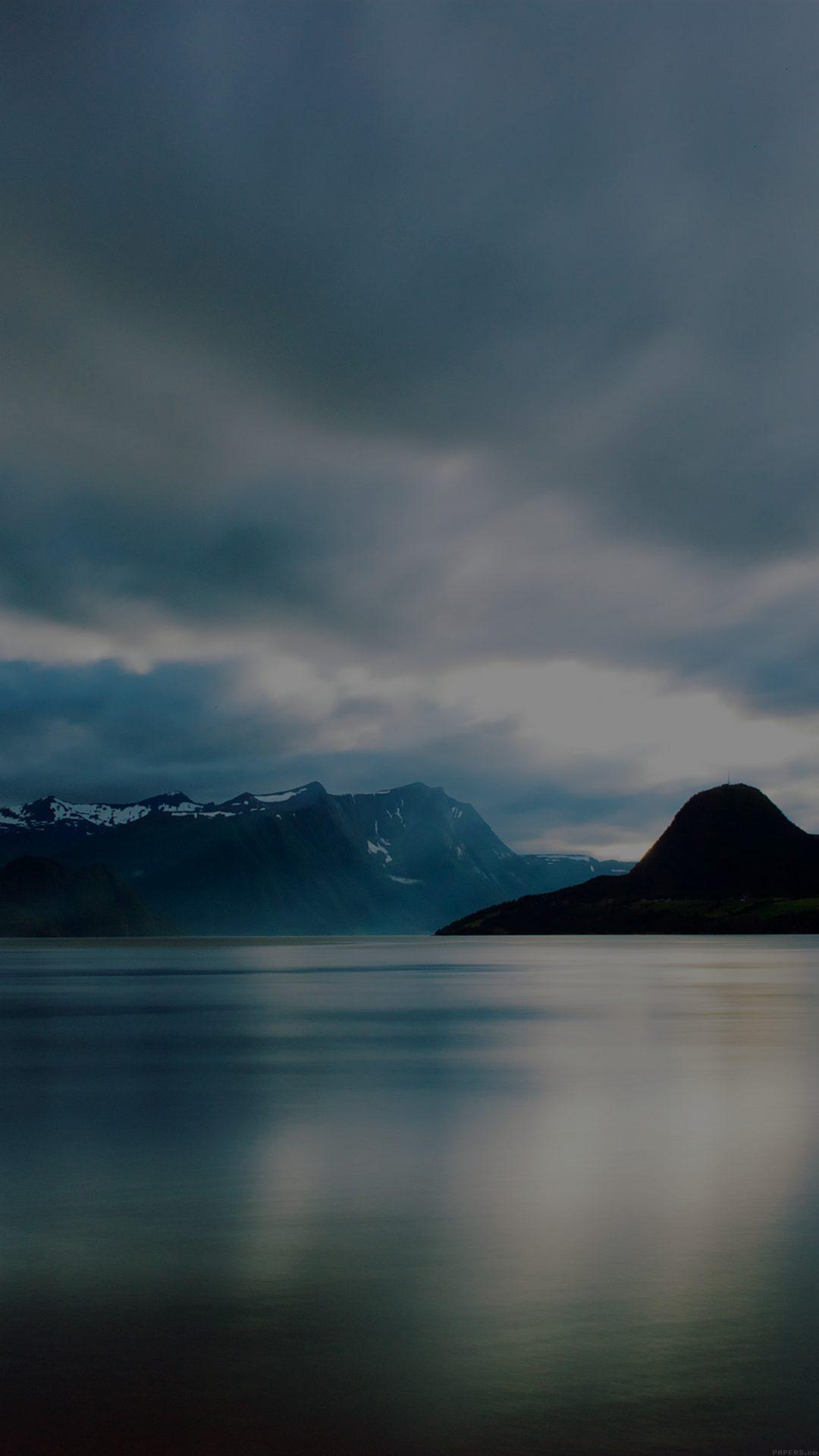 Lake Mountain Dark Calm Nature