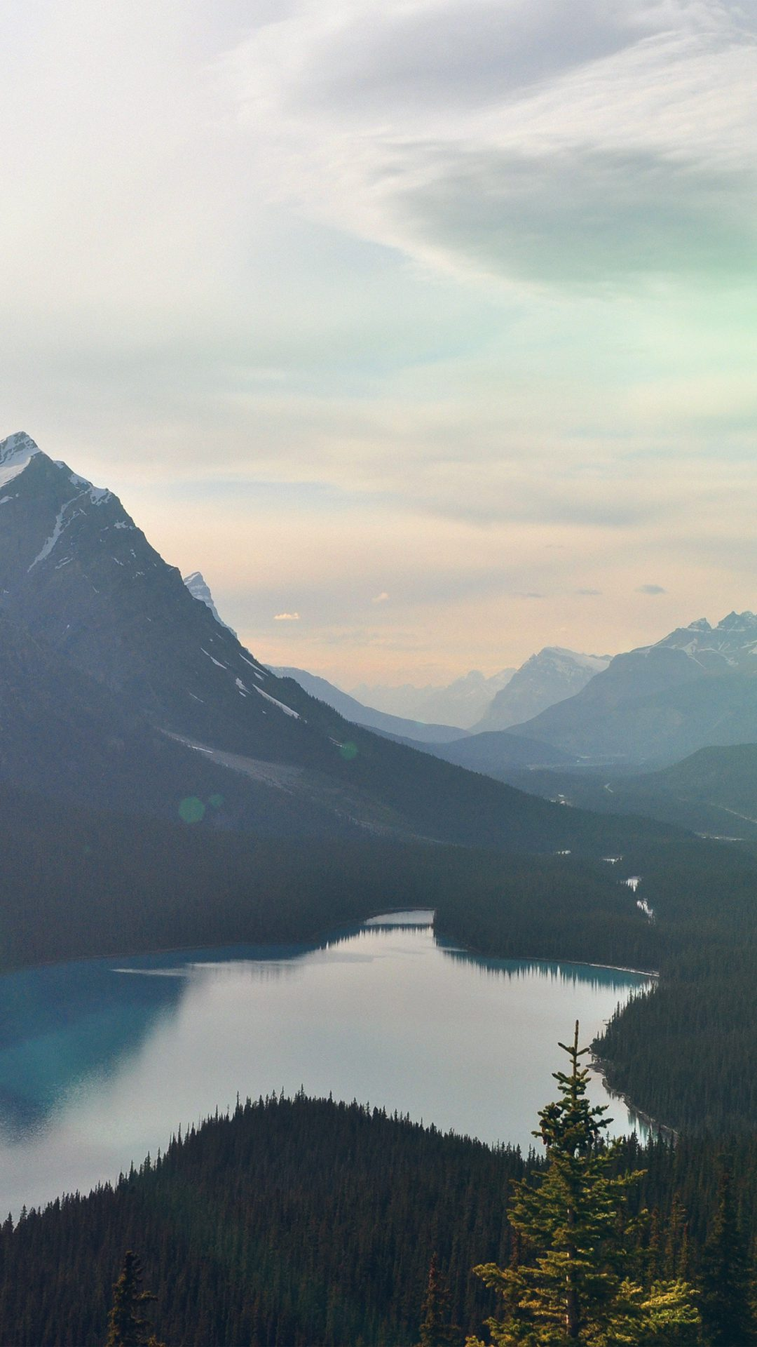 Lake Mountain Sky Clear Nature Flare