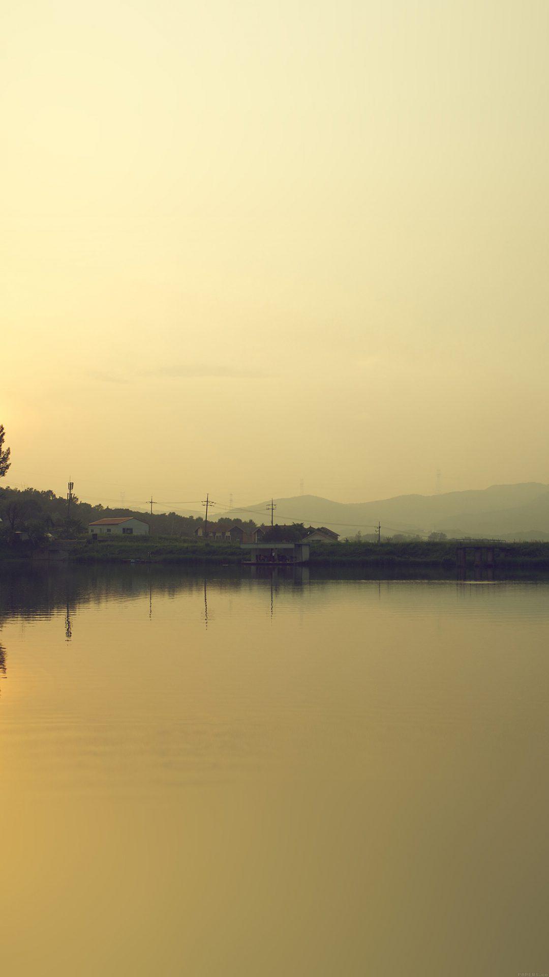 Lake Nice Sea Ocean Nature Sunset Yellow