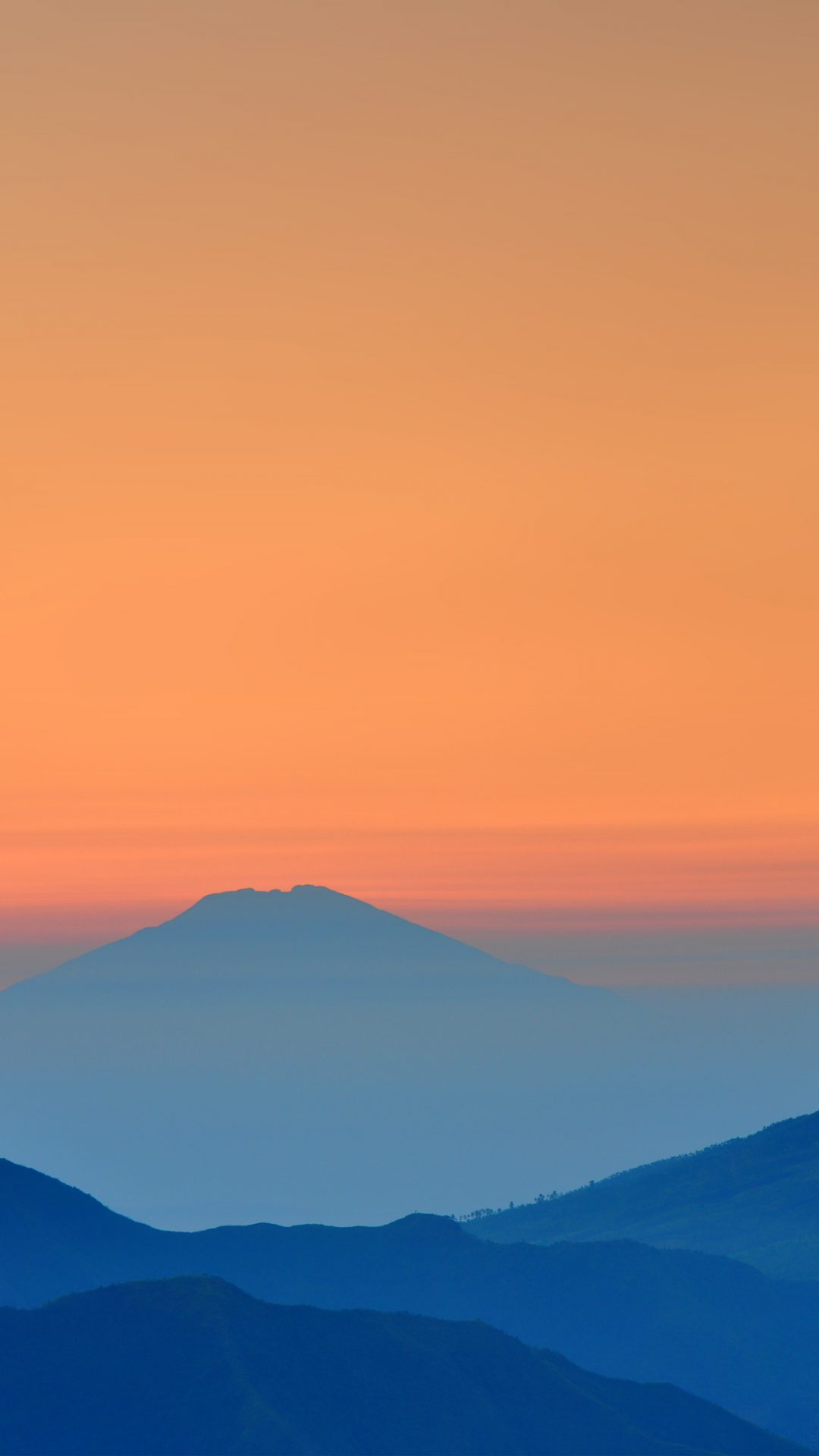 Landscape Sunrise Mountain Nature Red Blue