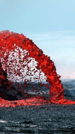 Lava Volcanic Magma Red Nature Fire Danger Mountain