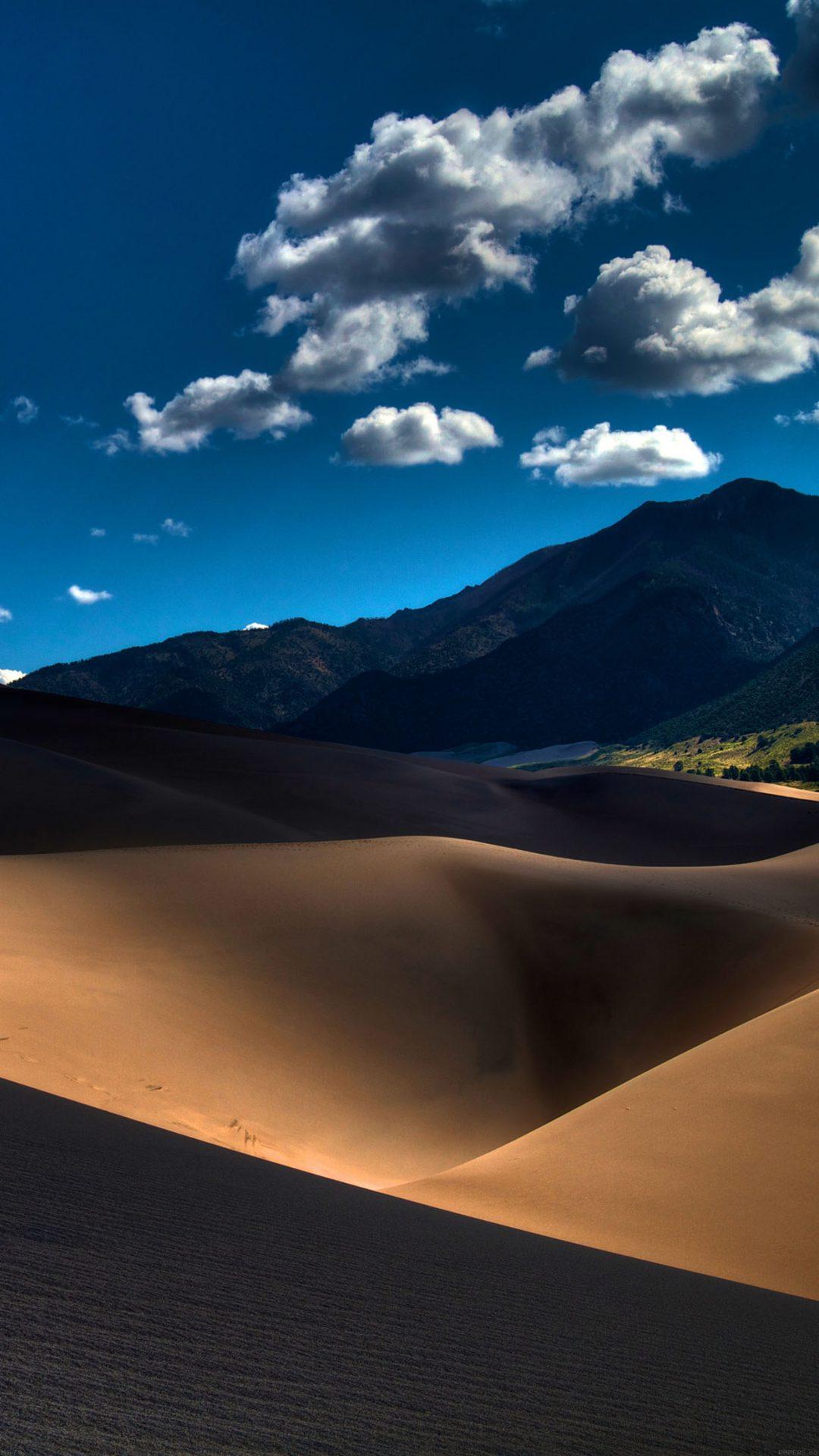 Line In Sand Desert Mountain Nature
