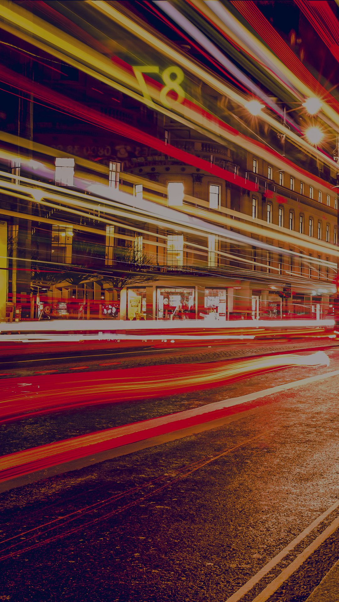 London City Car Lights Night Bokeh Dark