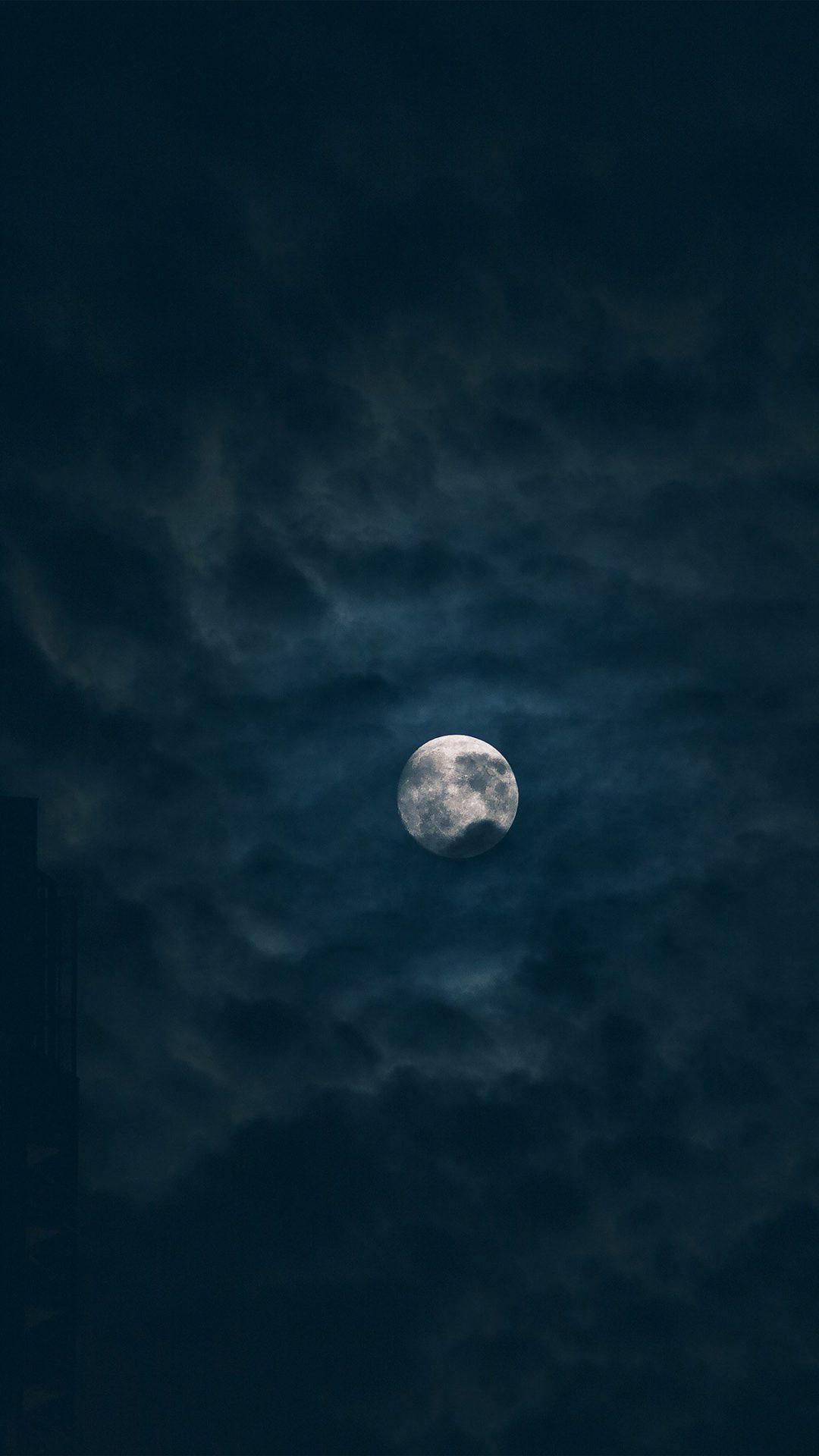 Moon Sky Dark Night Nature