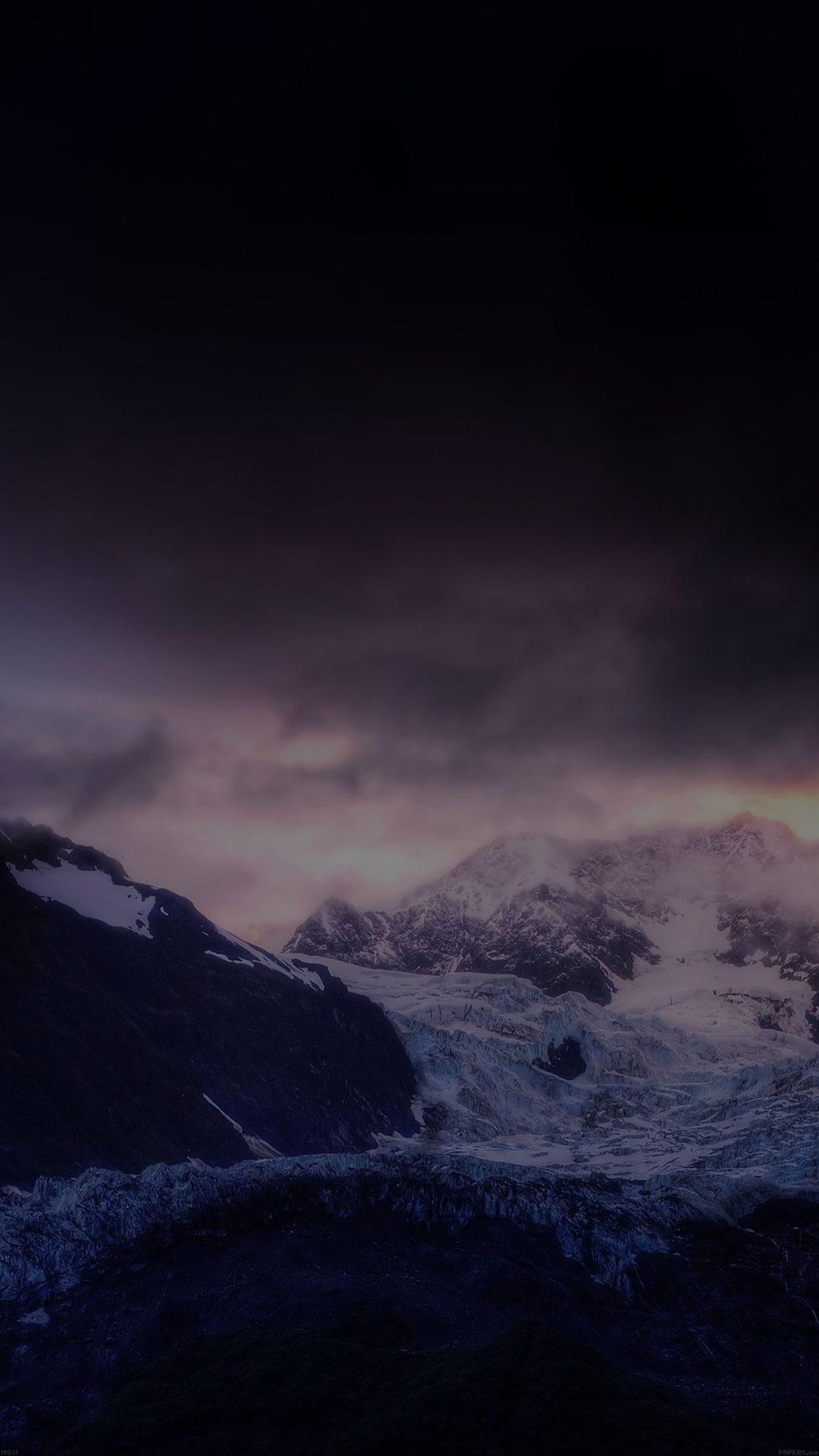 Mount McKinley Dark White Snow Nature