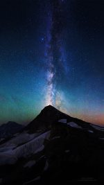 Mountain Aurora Sky Night Star Nature Milky Way