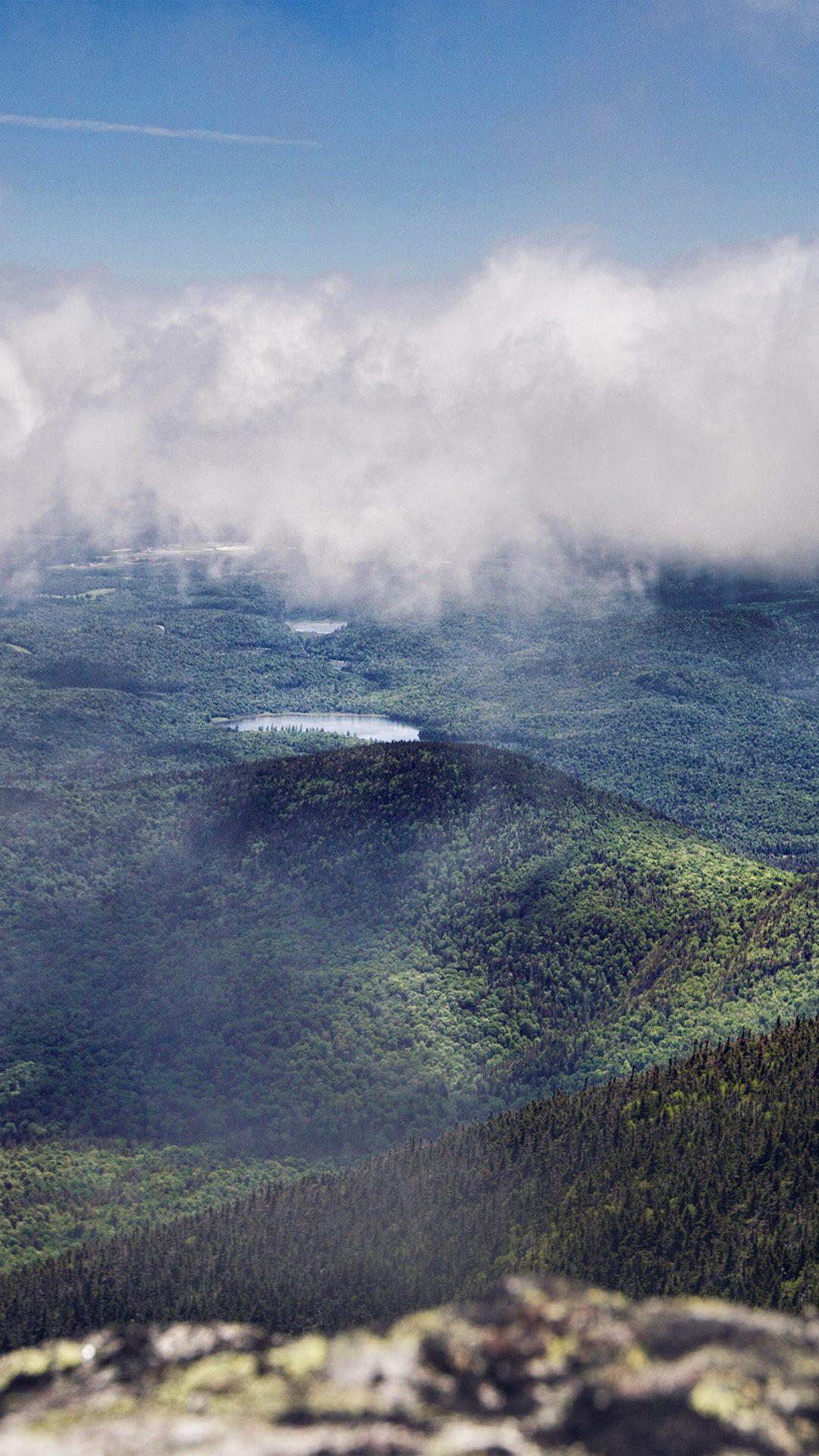 Mountain Blue Fog Cloud Nature View
