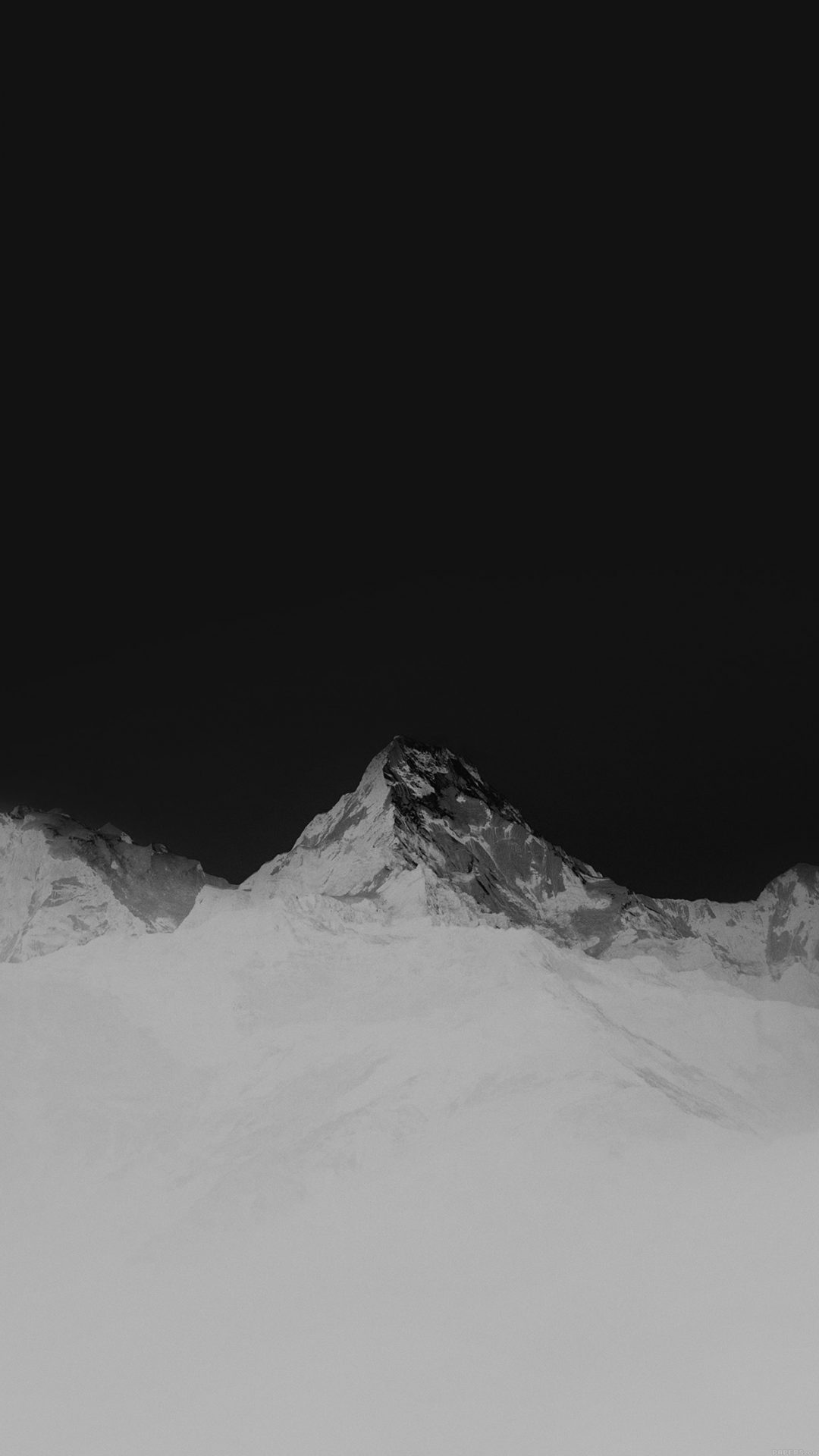 Mountain Bw White High Sky Nature Rocky