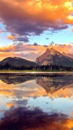Mountain Lake Sunset Nature Summer