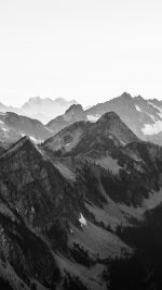Mountain Layer View Nature Top Bw Dark