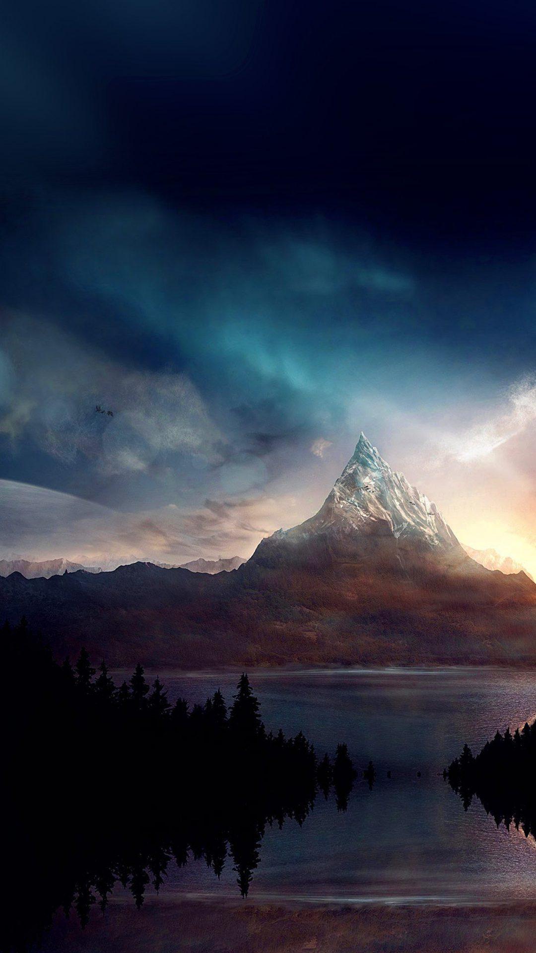 Mountain Nature Fantasy Art Illustration
