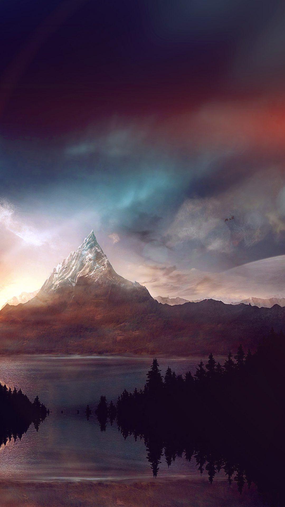 Mountain Nature Fantasy Art Illustration Flare