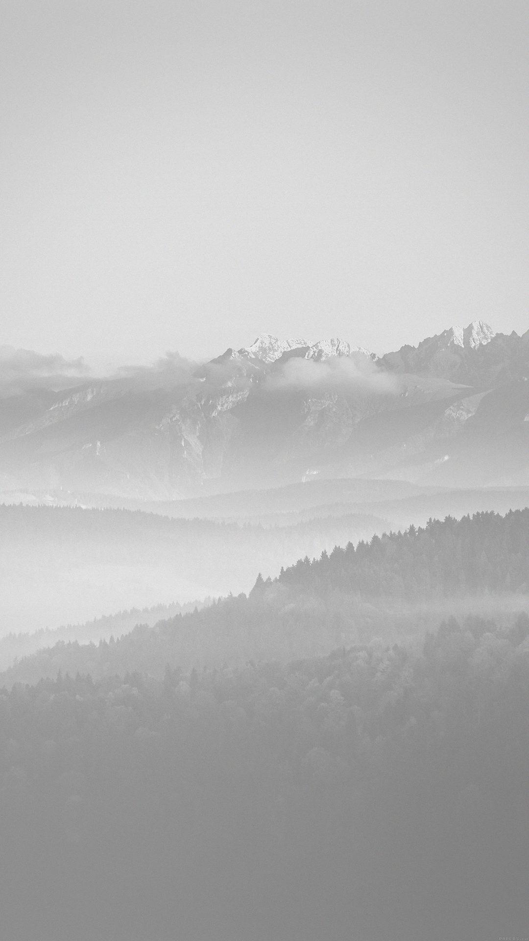 Mountain Peace White Sky Nature
