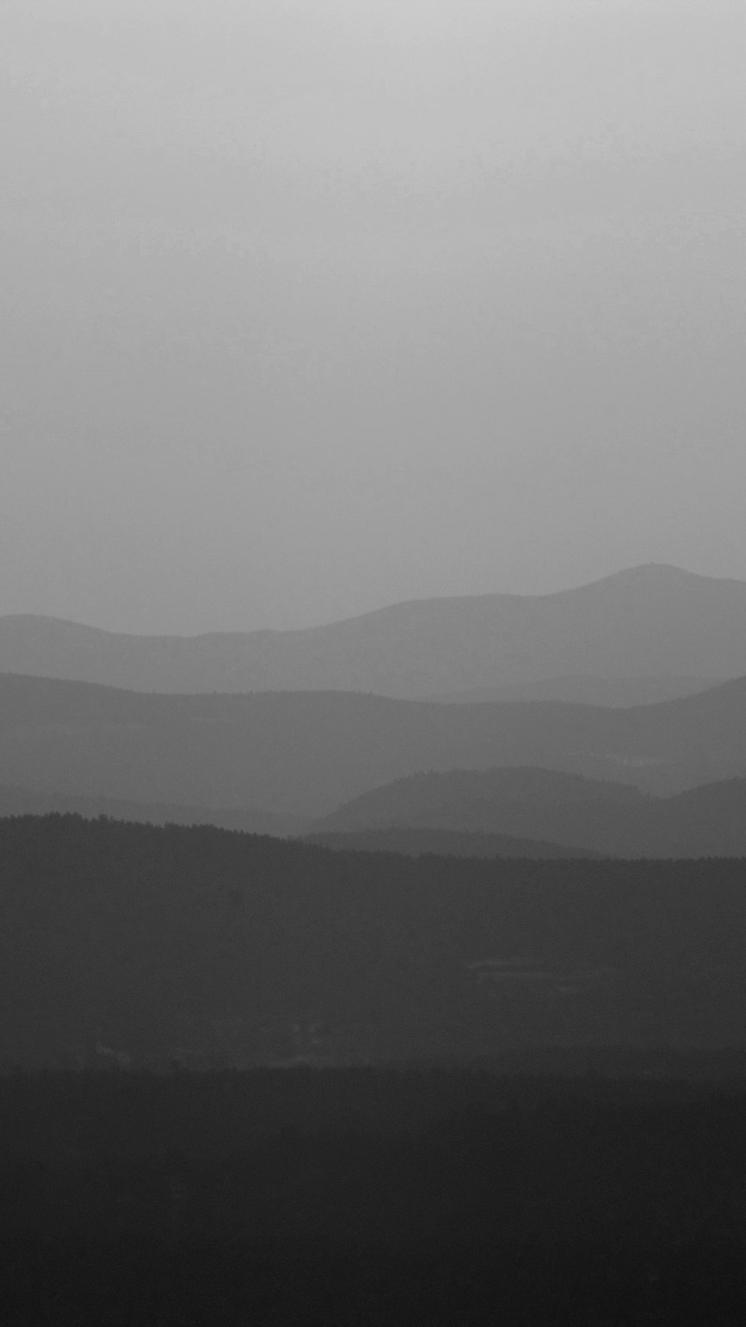 Mountain Silhouette Dark Bw Morning Nature
