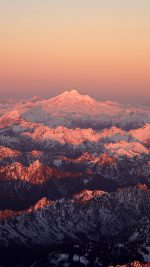 Mountain Snow In Sunset Shadow Nature