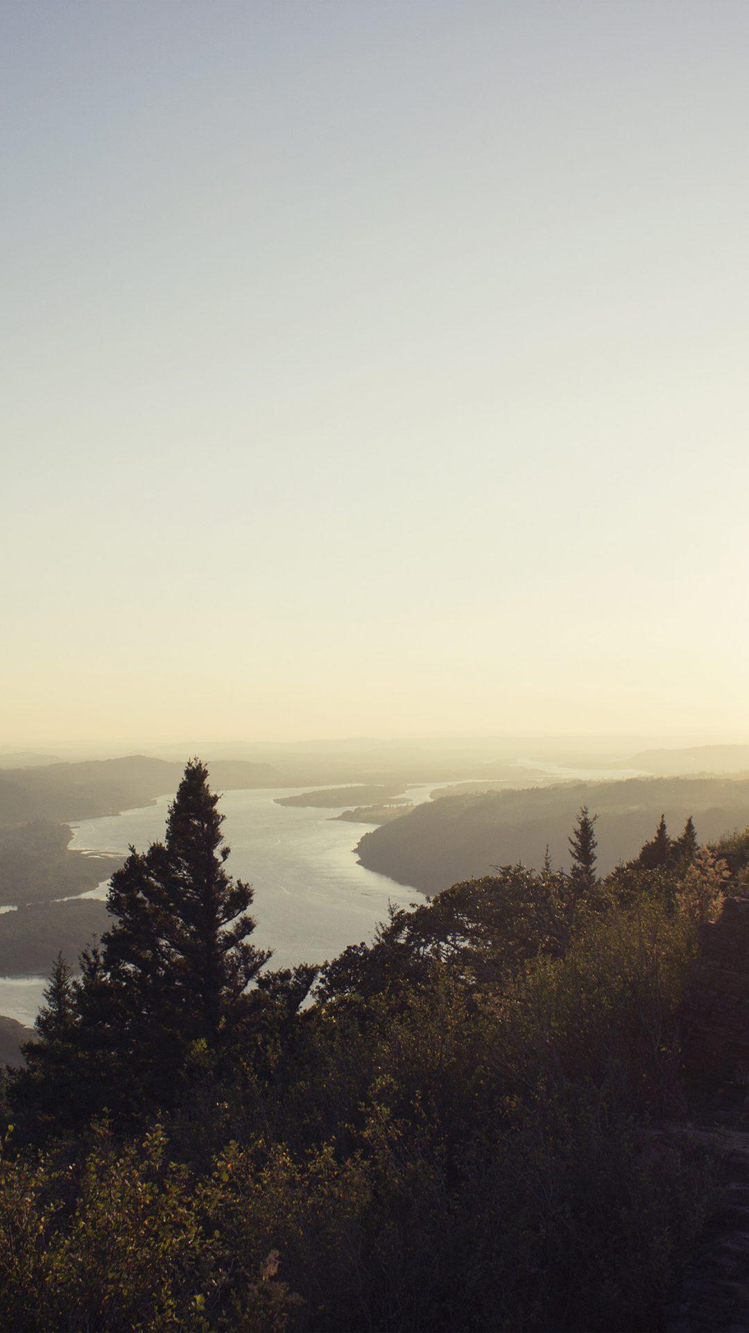 Mountain View Nature River Sky Shine Summer
