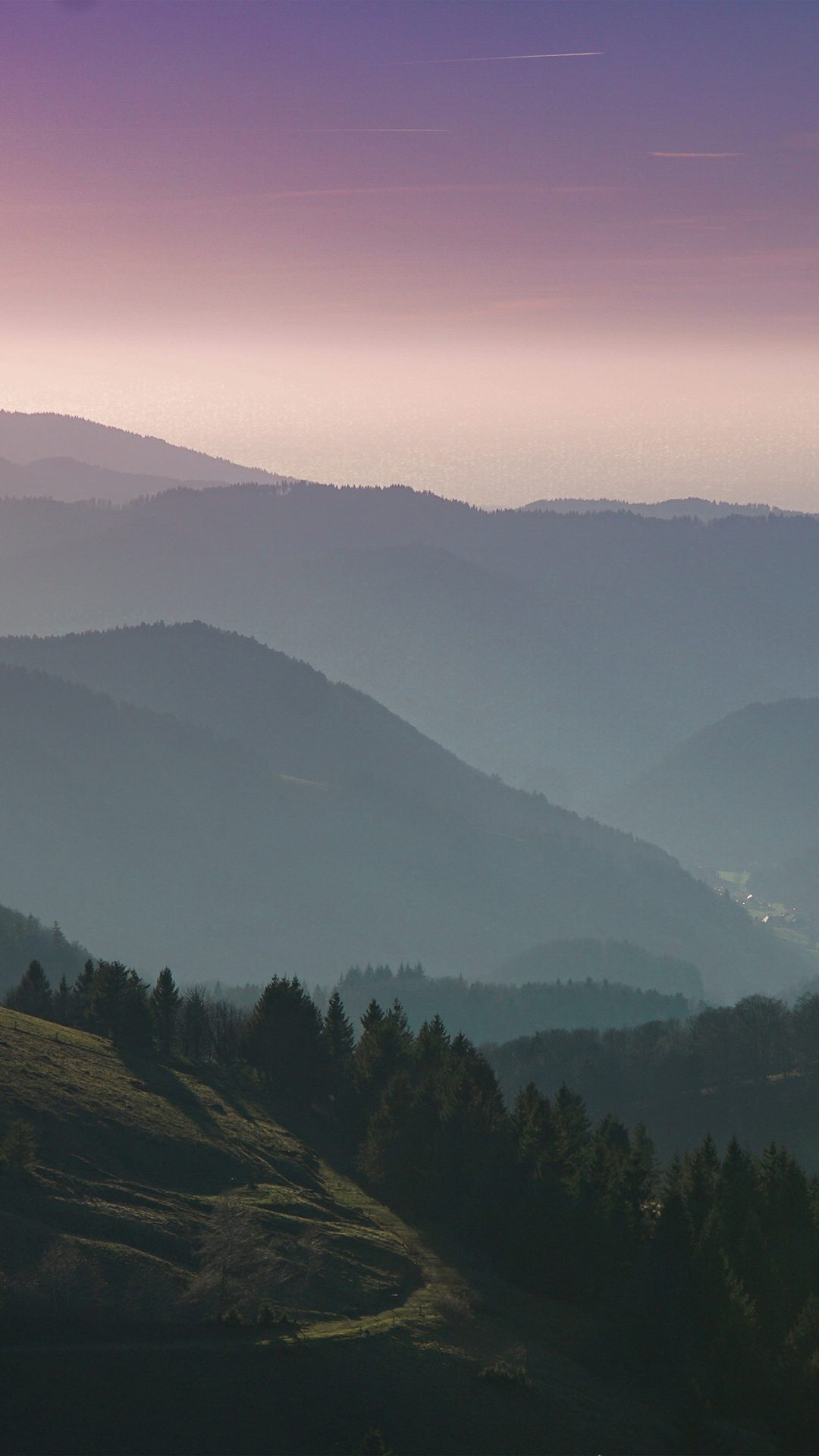 Mountain View Sky Purple Nature