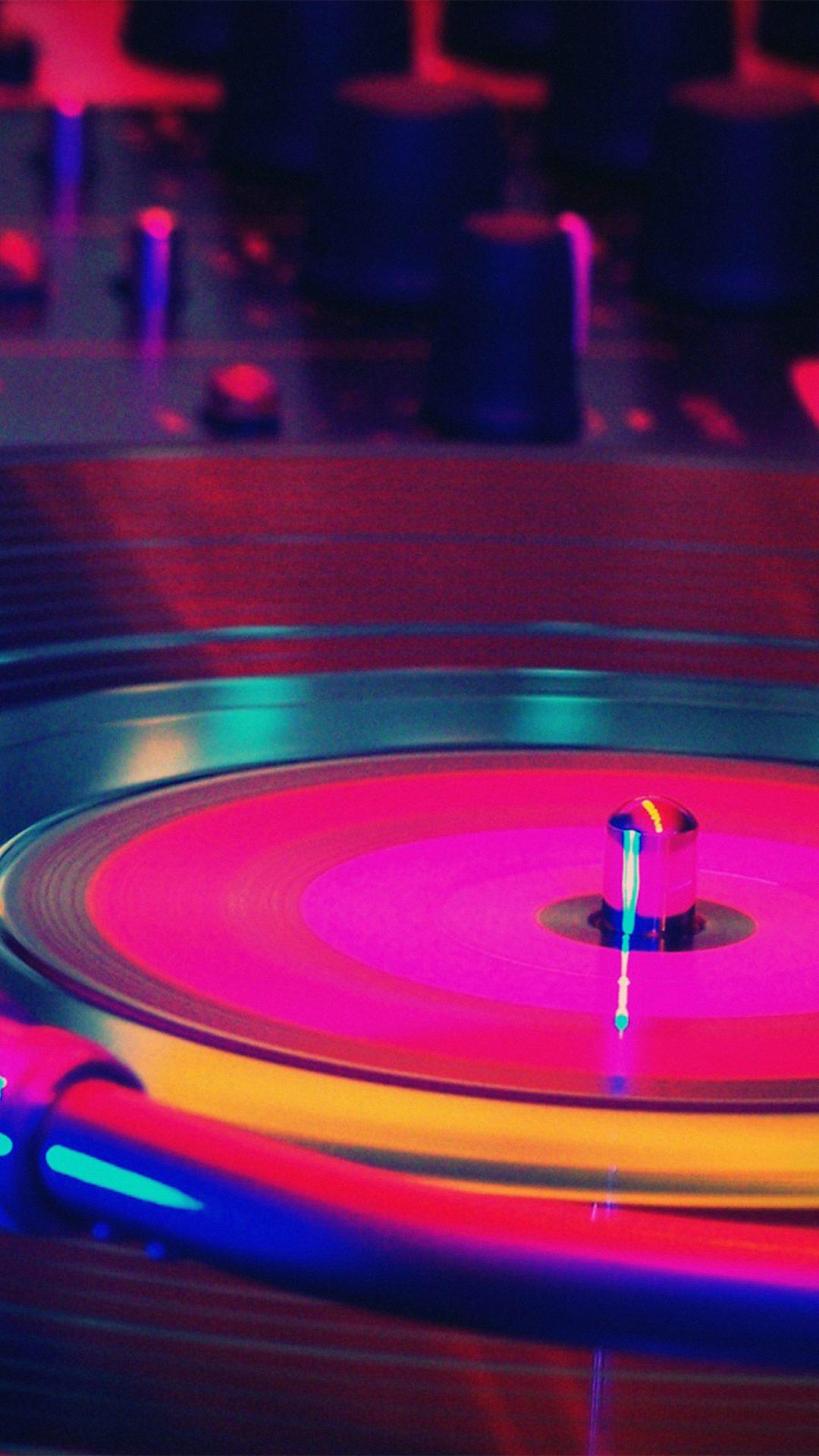 Music Dj Art Rainbow Color Red