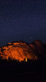 Mystery Rock Night Sky Star Nature
