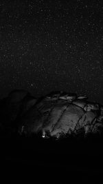 Mystery Rock Night Sky Star Nature Dark