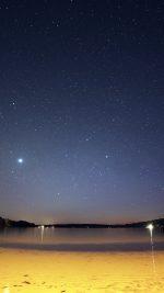 Night Beach Sea Vacation Nature Star Sky