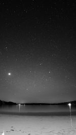 Night Beach Sea Vacation Nature Star Sky Dark Bw
