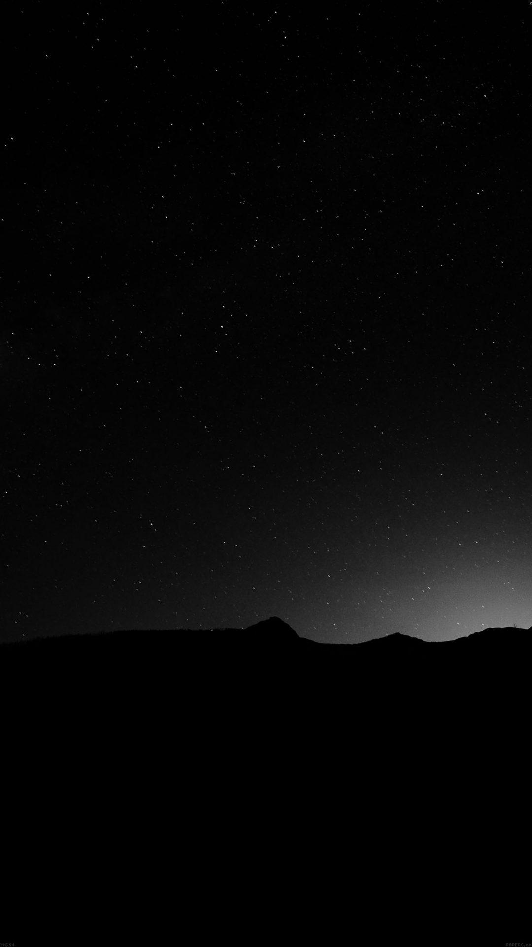 Night Sky Silent Wide Mountain Star Shining Nature
