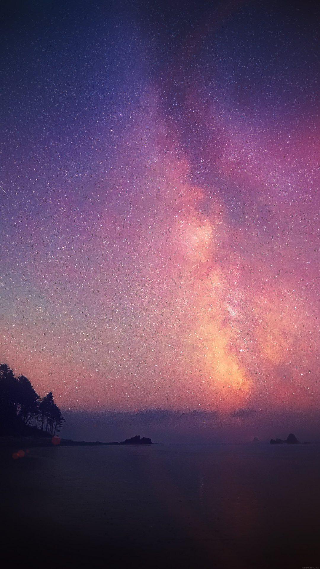 Night Sky Star Falling Aurora Nature