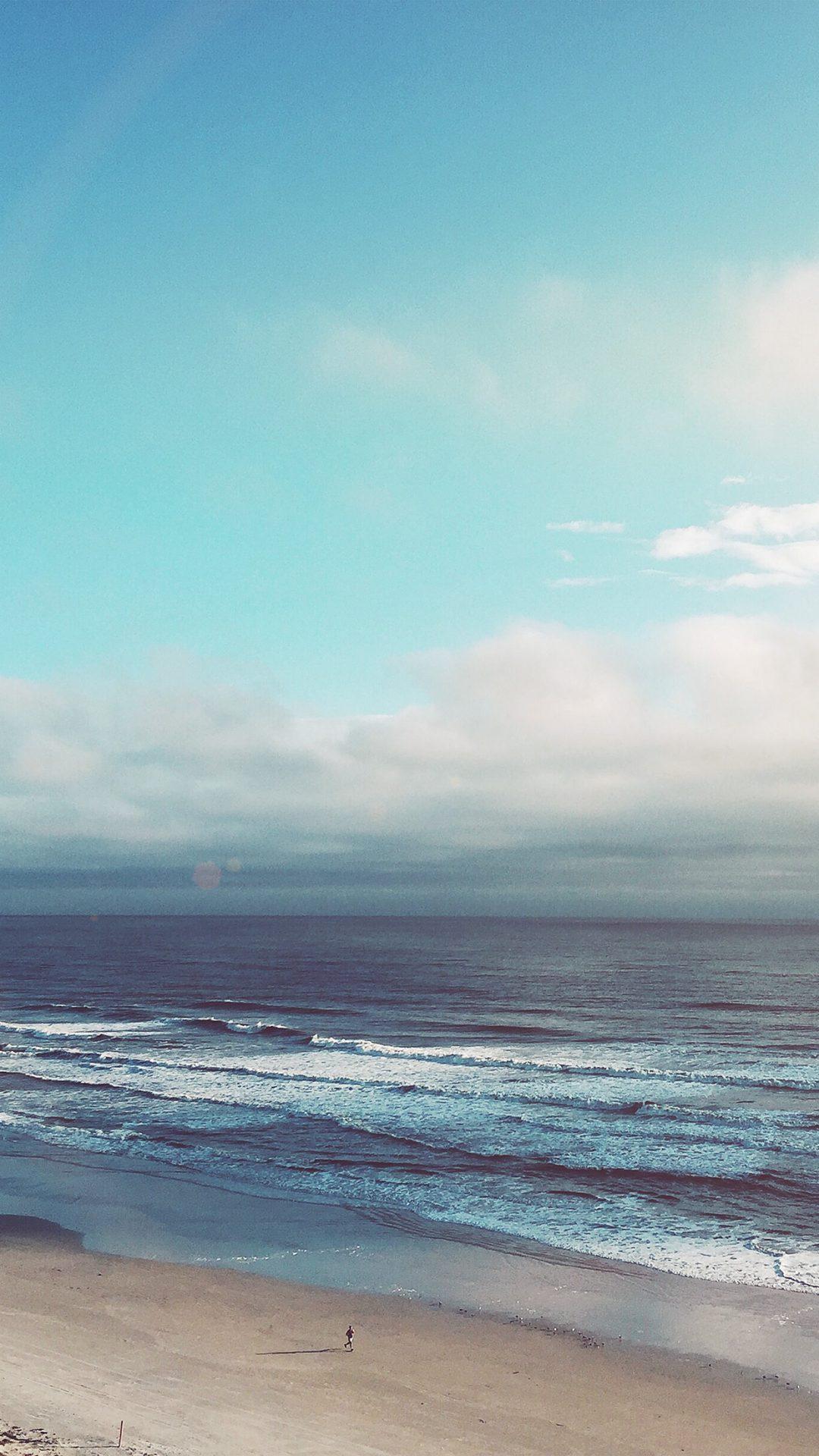 Ocean Blue Sky Cloud Nature Flare