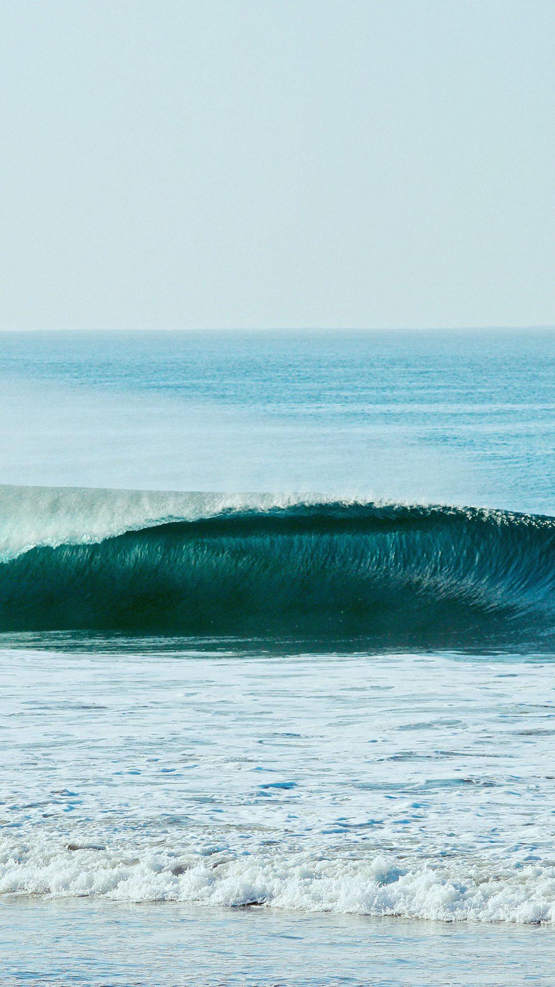 Ocean Wave Blue Day California Nature
