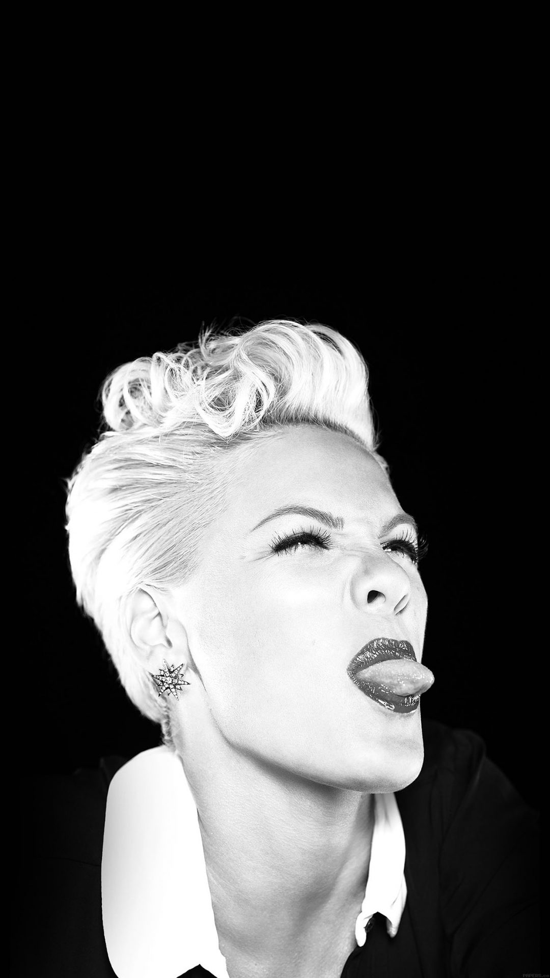 Pink Funny Music Girl Face