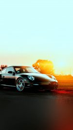 Porche Art Sunset Nature Supercar