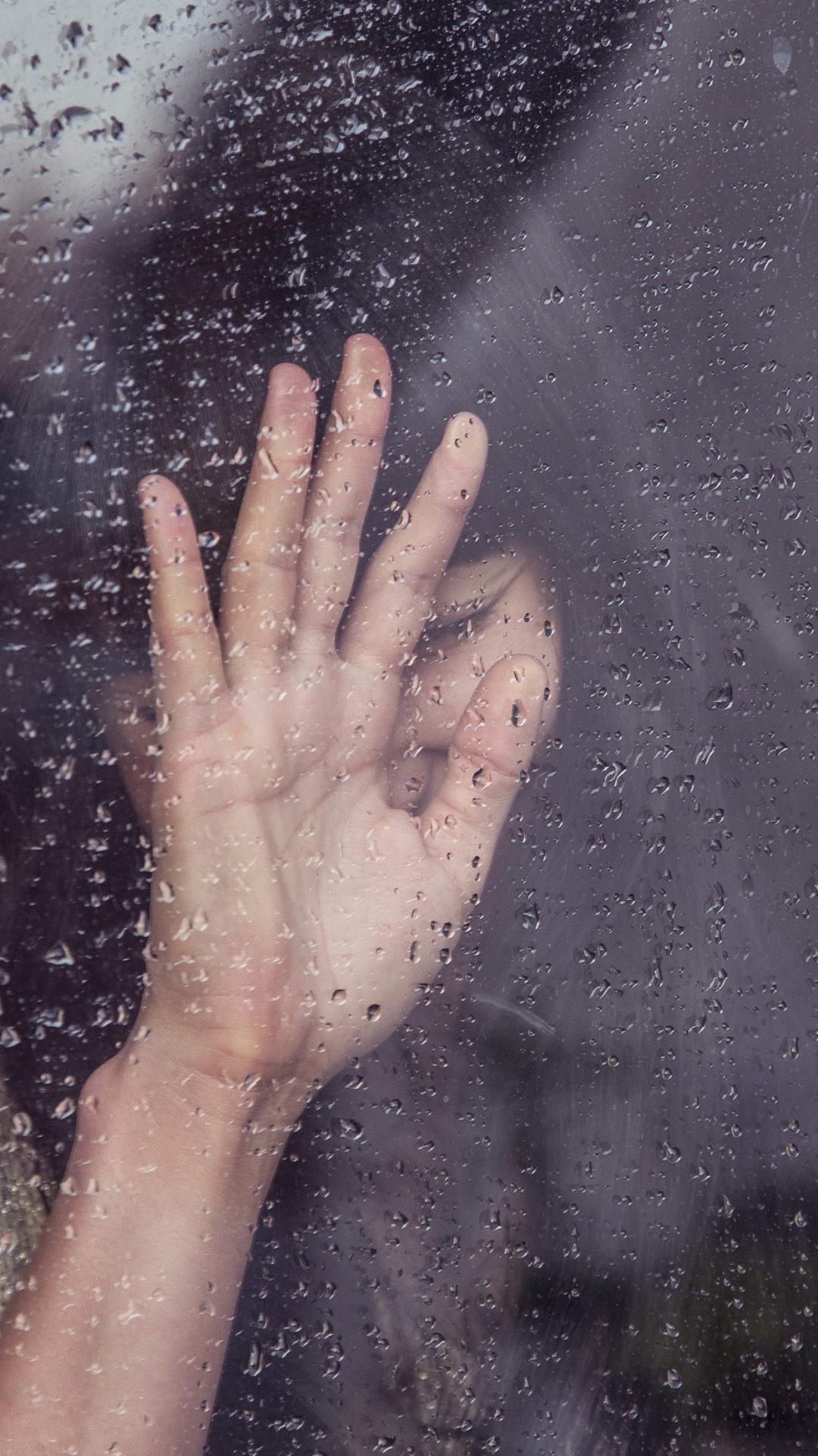 Rain Girl Shy Asian Nature