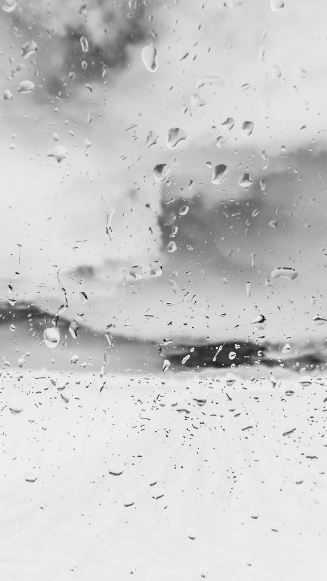 Rainy Window Nature Water Drop Road White