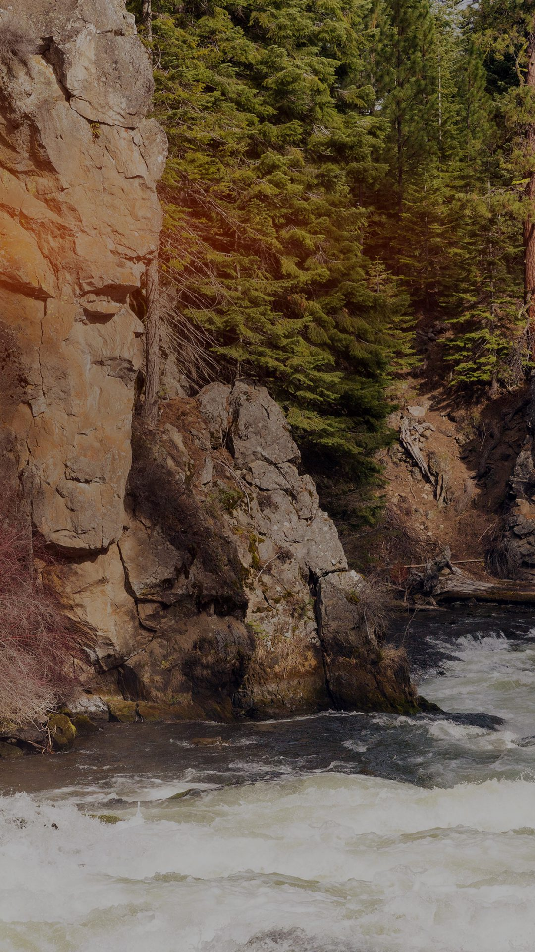 River Mountain Descheutes Nature Dark