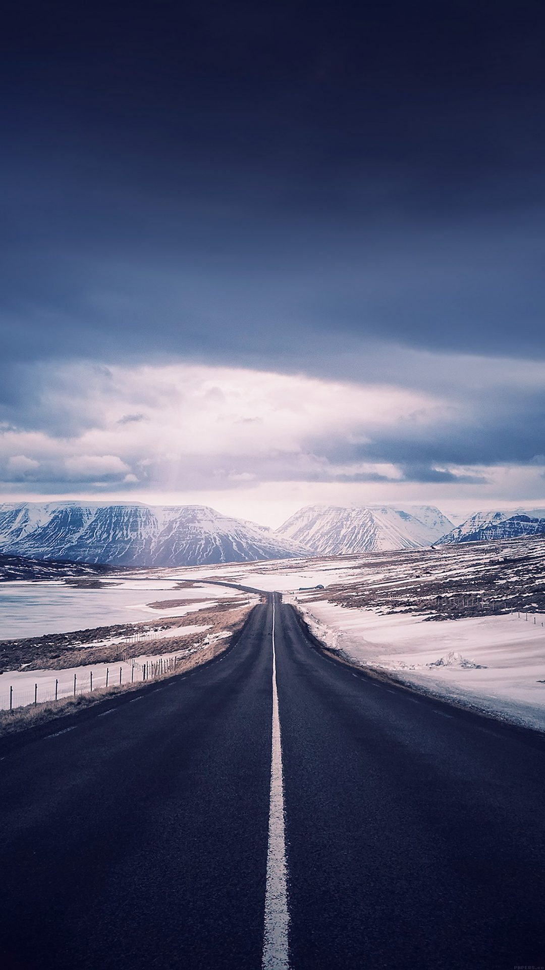 Road To Heaven Snow Mountain Nature Winter