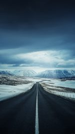 Road To Snow Mountain Nature Winter