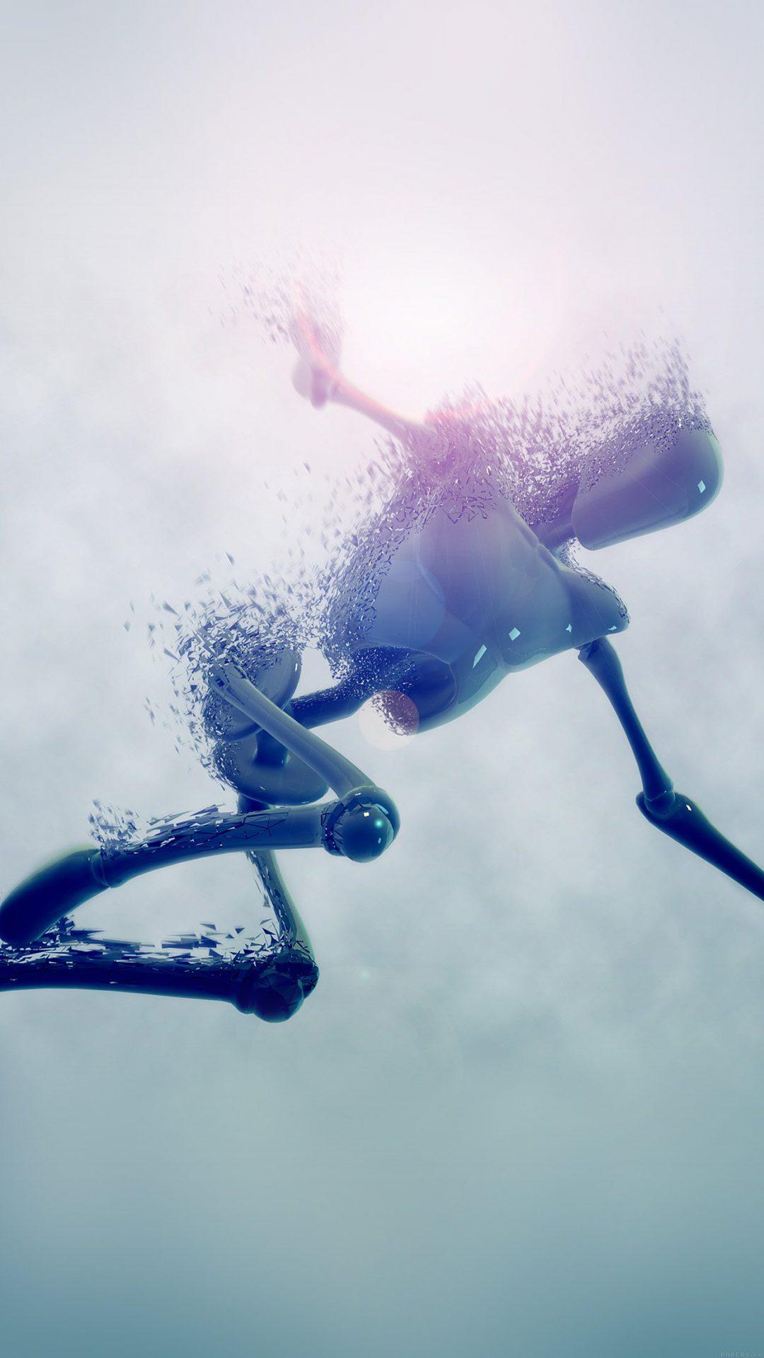 Robot In Water Illust 3d Hd Art
