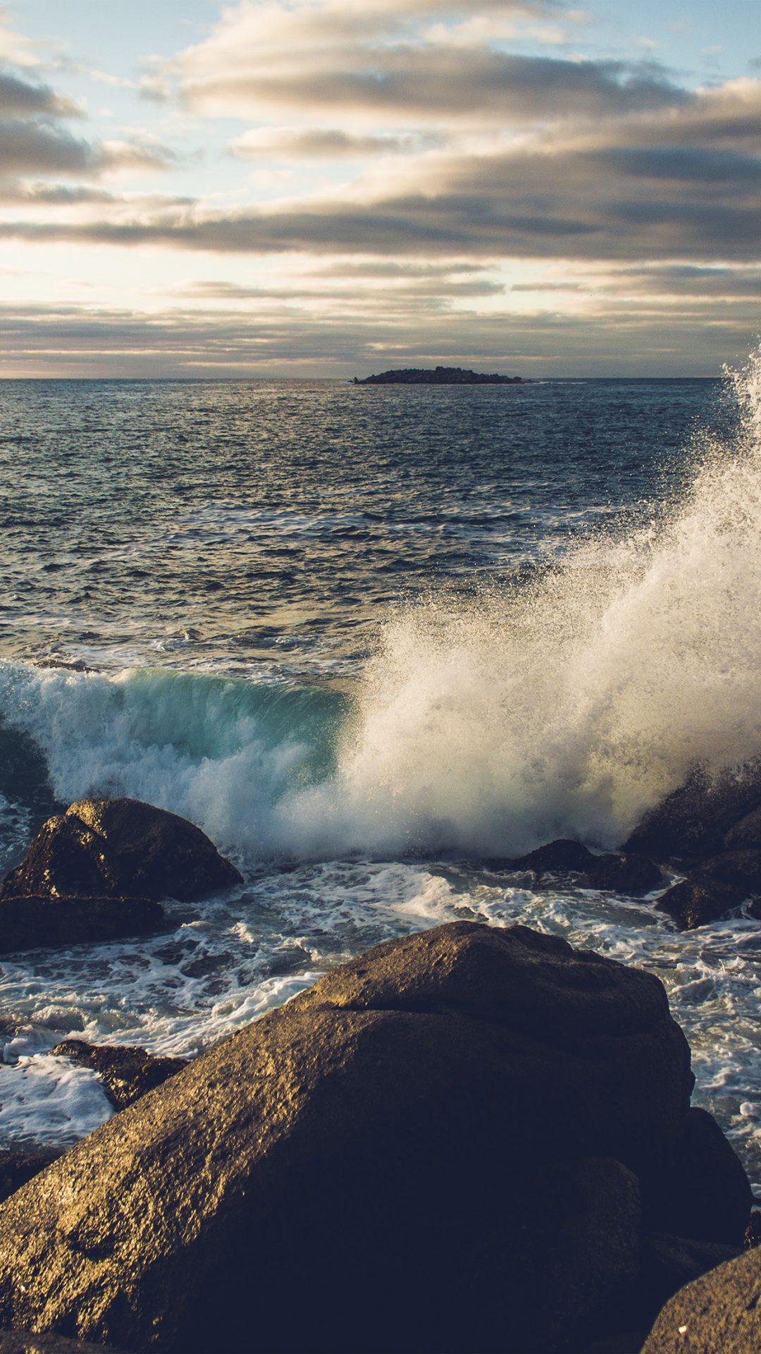 Rock Wave Nature Sea Cold
