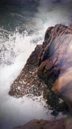 Rock Wave Sea Ocean Nature Blue Flare Vignette