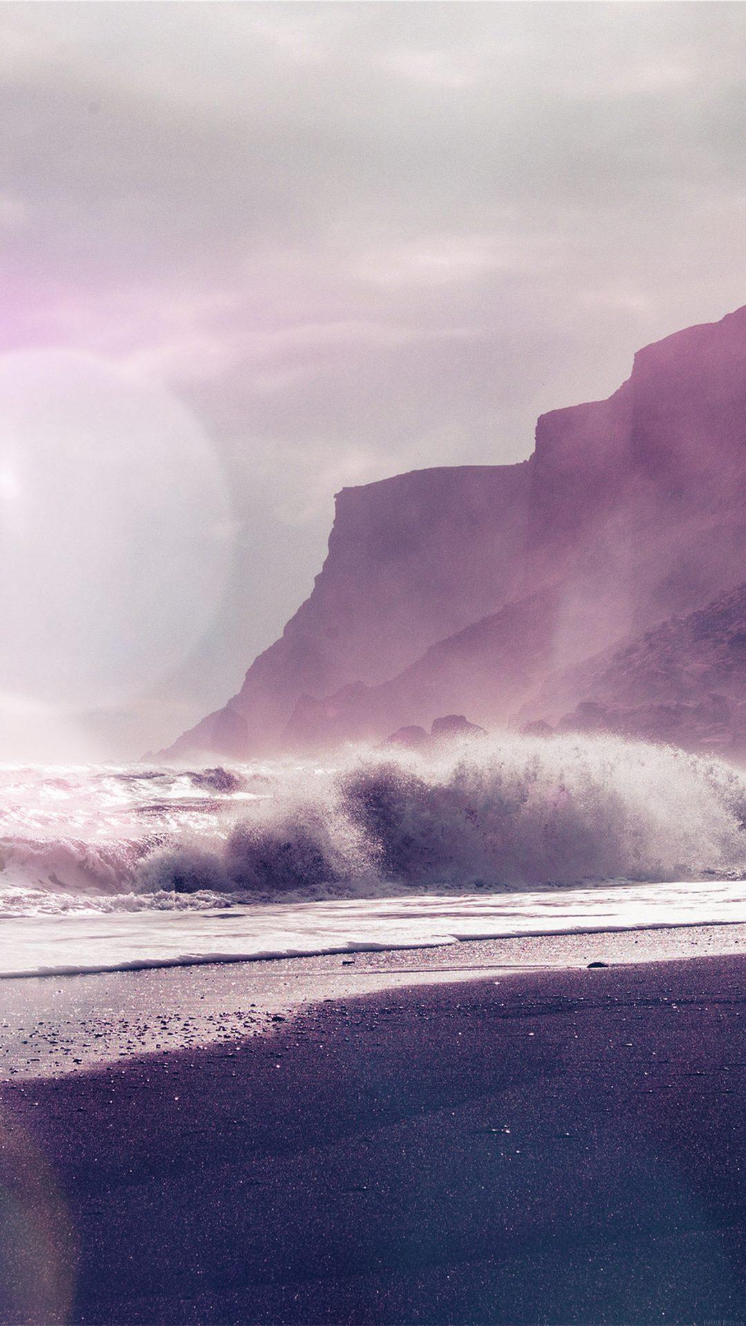 Sea Beach Nature Purple Flare
